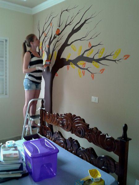 #DIY Pintando uma árvore na parede
