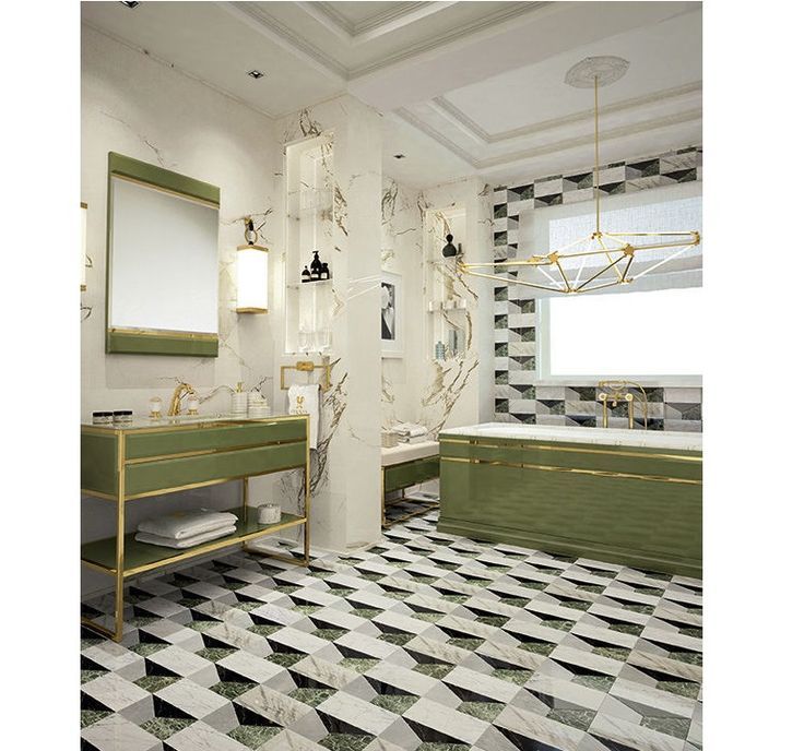 Bathroom Decoration With Greenery Pantone Of The Year