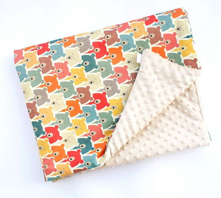 Minky Baby Blanket by owlONcotton on Etsy