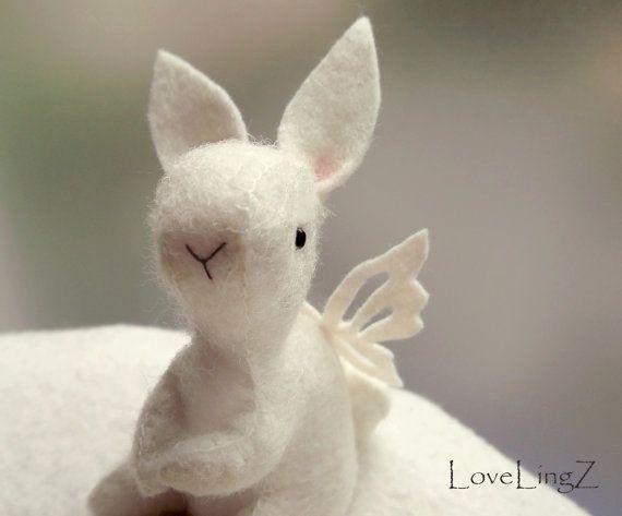 Butterfly bunny, enchanted forest pose-able mini plushie <3 by LoveLingZ