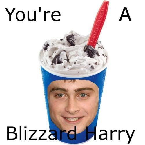 OMG this is so stupid but I laughed so hard I snorted.: Laughing, Stuff, Dairy Queen, Funnies, Blizzard Harry, Things, So Funny, Harry Potter Humor