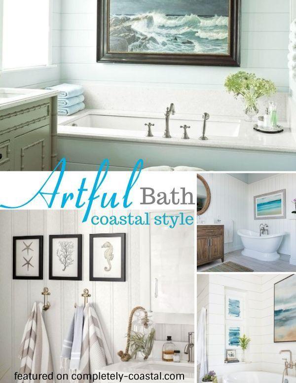 Coastal Wall Art Decor Ideas For The Bathroom Coastal Style