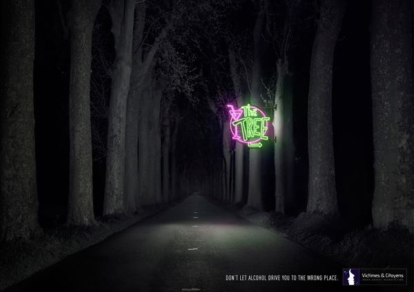 Adv campagn by CLM BBDO Paris for prevention against the dangers of driving under alcohol