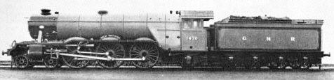 Gresley A1 Pacífico No. 1470 'Great Northern' en Doncaster 03 1922