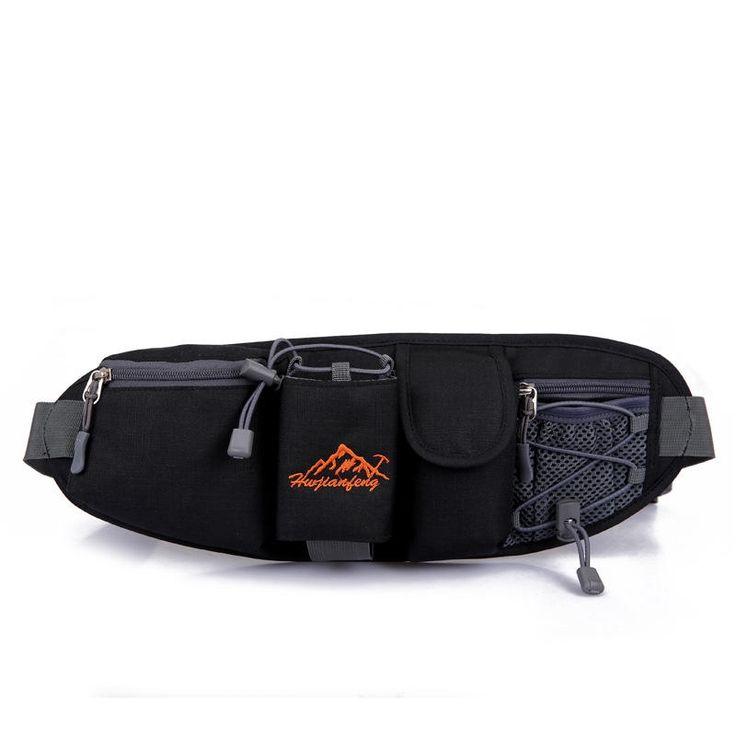 Portable Multifunction Bottle Carrier Outdoor Waist Bag Sports Pack Bag Storage Phone Bag Black  #men #women  #bags #fashion