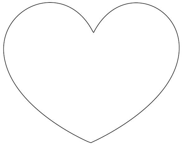 Imagens pra vocês!: Moldes de coração para feltro ou eva - molde coração para artesanato - molde de coração