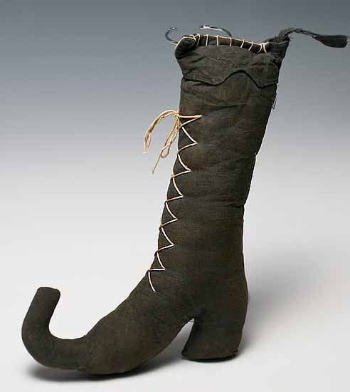 primitive witchs laced boot will be a great addition to your halloween decorations - Halloween Decorations Witch