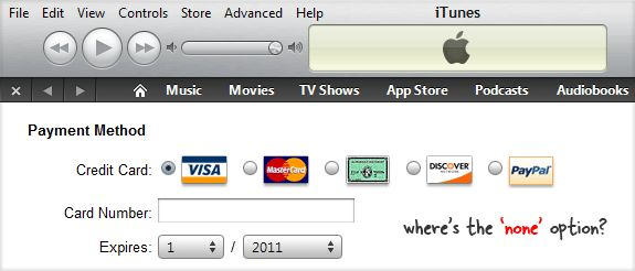 how to change credit card on itunes on ipad