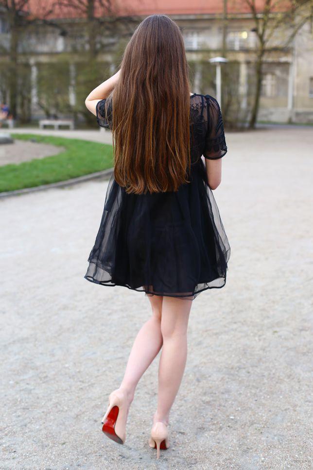 Czarna Tiulowa Sukienka I Bezowe Szpilki Ari Maj Personal Blog By Ariadna Majewska