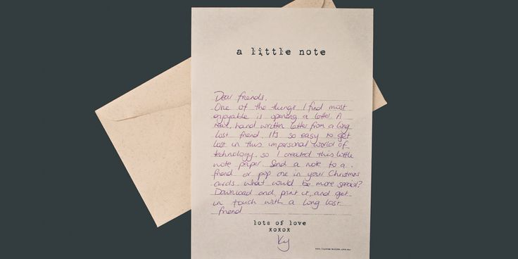 Printable: A little note. Notepaper