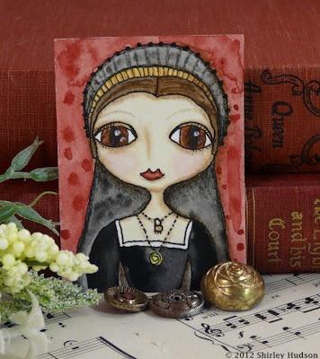 Anne Boleyn ATC: Boleyn Atc, Smile The Tudors, Art Journals, Journaling Ideas, Art Journaling