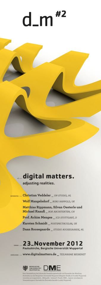 digitalmatters 2 // adjusting realities  __save the date