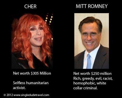 Cher vs. Mitt Romney