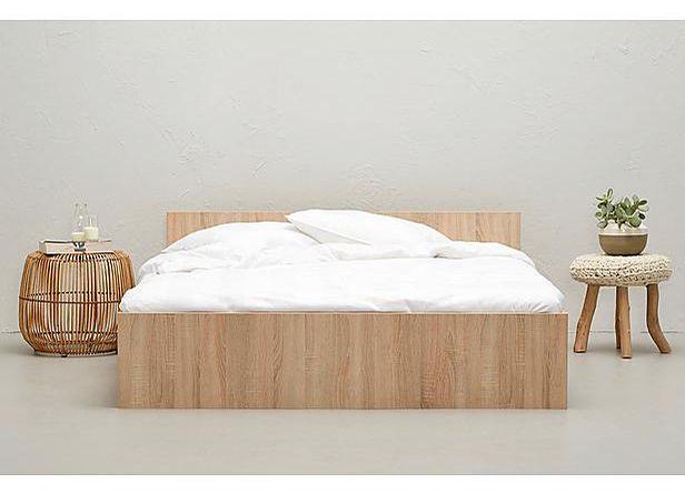 25 beste idee n over tweepersoonsbedden op pinterest - Hoofdbord wit hout ...