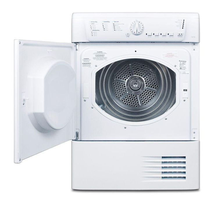 Ariston 4 cu ft electric ventless dryer in white