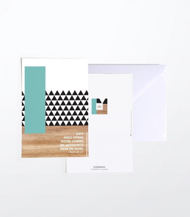 Carte de correspondance - Collection Elsa - Iconova.fr #verset #geometrique #matiere #design #chretien www.iconova.fr