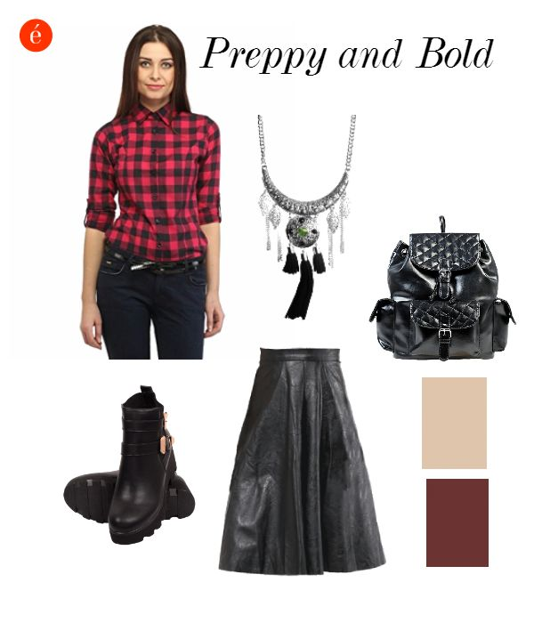 Styling tips for Fall. #Preppy #edgy #creative #leather