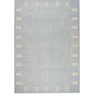"Rug and Decor Inc. Chateau Light Blue Area Rug Rug Size: 1'10"" x 2'11"""