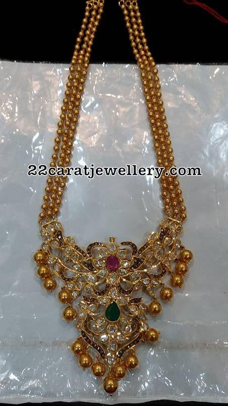 Gold Balls Chain Pachi Pendant