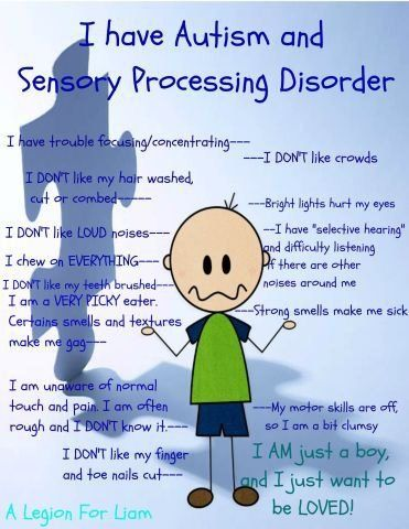 Sensory Processing Disorder and Autism - The Sensory Spectrum. What a true statement. couldn;t love mine more