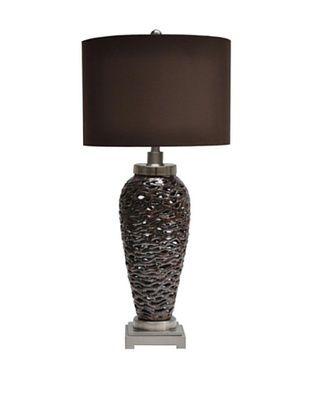 Greenwich Lighting Pen Brook Table Lamp, Chocolate/Nickel