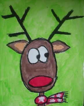 "So cute! And a structured was that even kindergartners can learn how to draw reindeer. For those kiddos who ""can't"" draw!"
