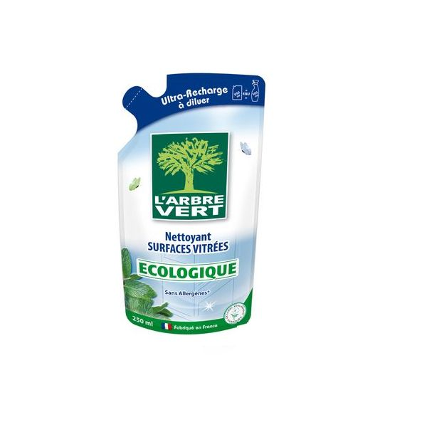 Recharge surfaces vitrées écologique - 250 ml  - L'arbre vert