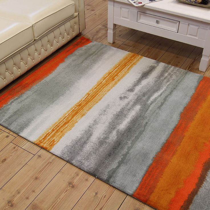Boca Oslo Stripe Orange Rug With Fast Free Uk Delivery Best Prices Online Guaranteed Huge Choice Of Quality Styles And Designs In Stock At Land Rugs