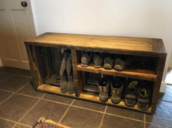 shoe storage shoe rack storage bench shoe box wooden pallet shoe rack hallway shoe rack storage & Rustic Shoe Bench. Katmai Wood Storage Entryway Bench. Handmade Two ...