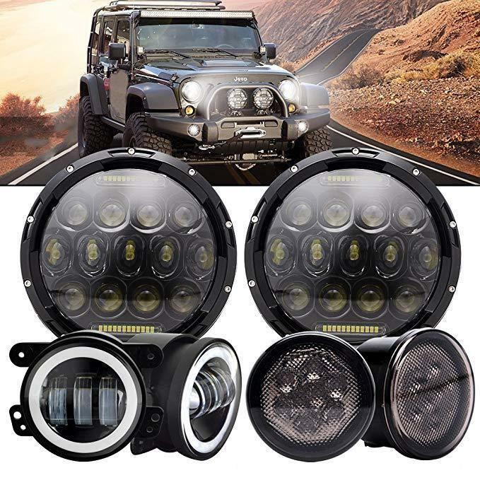 Ad Ebay For Jeep Wrangler Jk Cree Led Projector Headlights Fog