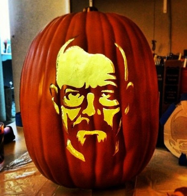 Breaking bad halloween pinterest walter white White pumpkin carving ideas