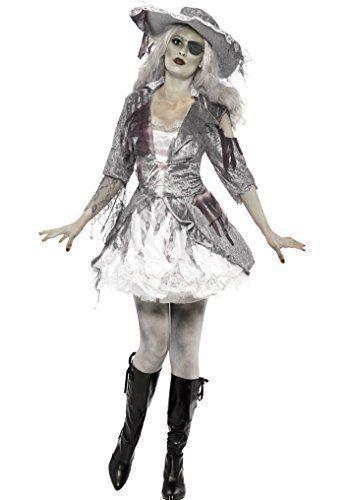 Ladies Ghost Ship Pirate Treasure Halloween Fancy Dress Costume Small 8-10