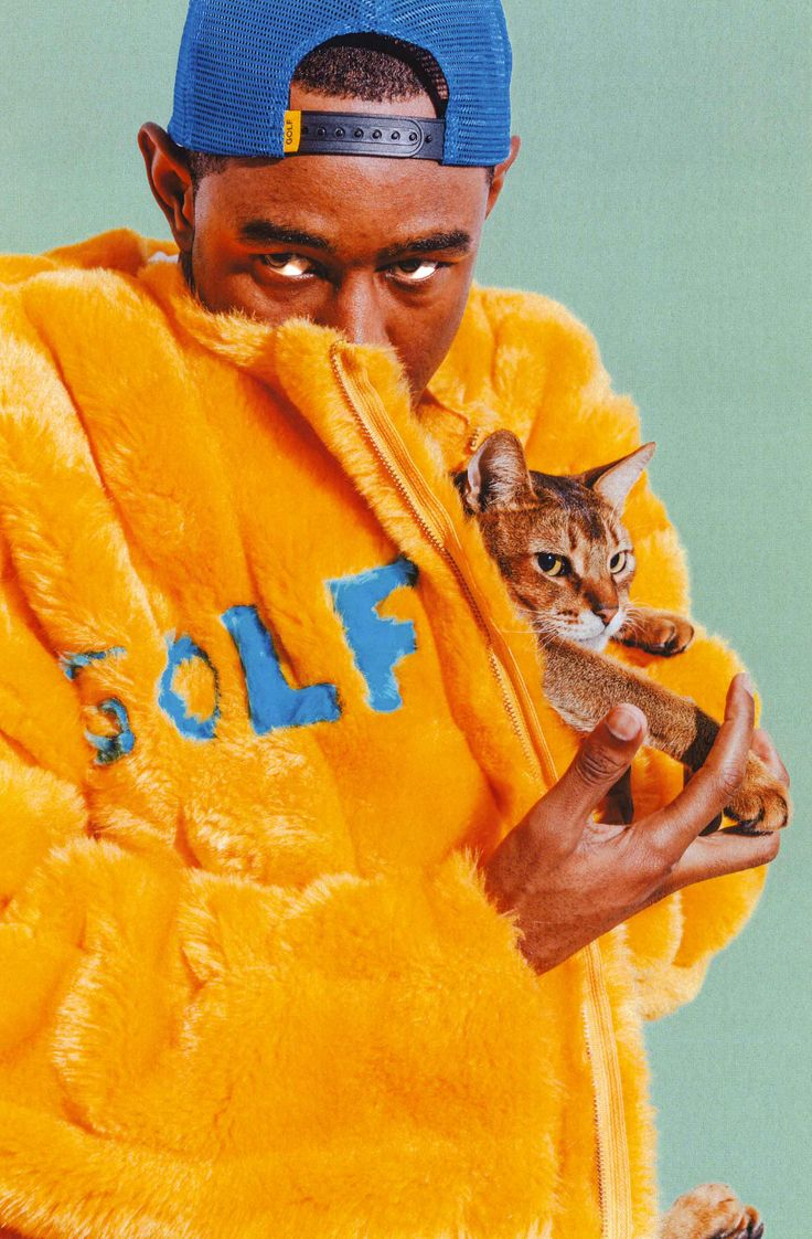 Golf Wang just dropped its Fall lookbook and Tyler, the Creator is an actual genius. The Fall/Winter 2015 collection is even more fun than usual with an excellent variety of loungewear via velour sweatsuits, a bright yellow fuzz coat, striped overalls, smiley faces and jewellery. Tight! Photos: Golf Wang