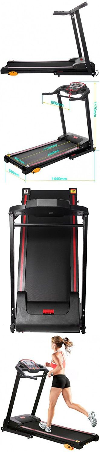 Merax Electric Treadmill Folding Motorized Running Machine 1.5HP (Black.)
