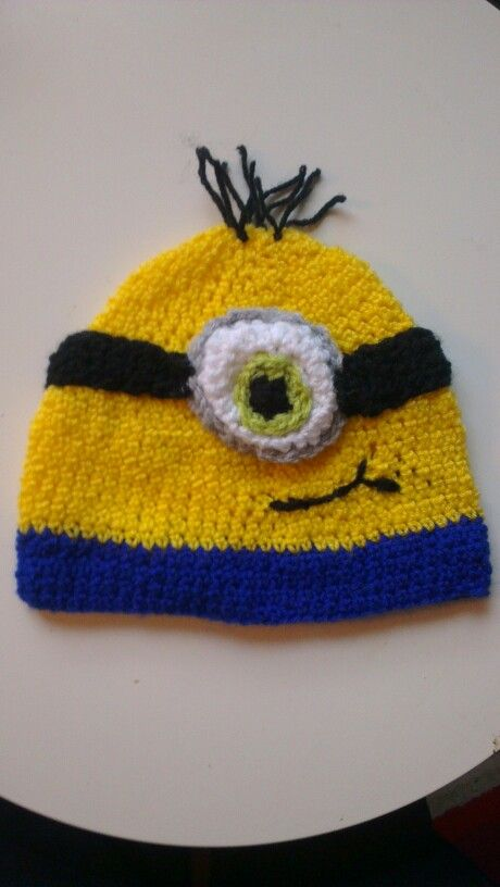 Little hair green eyed minion beanie | Hats I've made | Pinterest ...