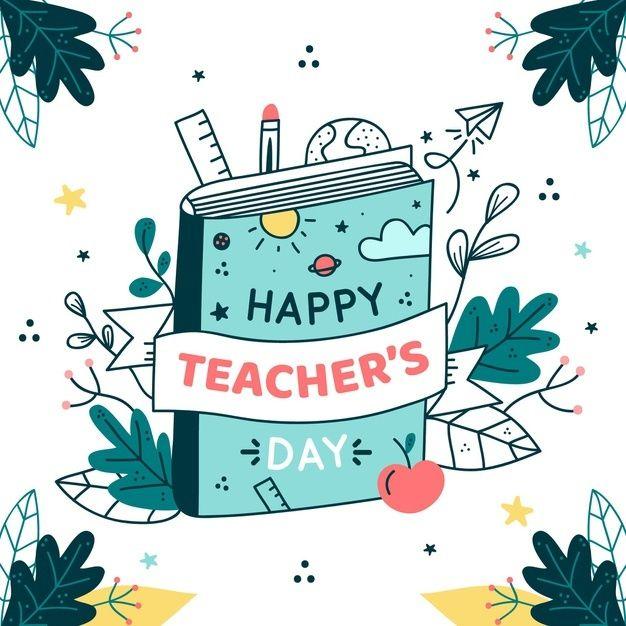 Ilustracao Desenhada A Mao Do Evento Do Dia Do Professor Teachers Day Card Design Happy Teachers Day Card Teachers Day Drawing