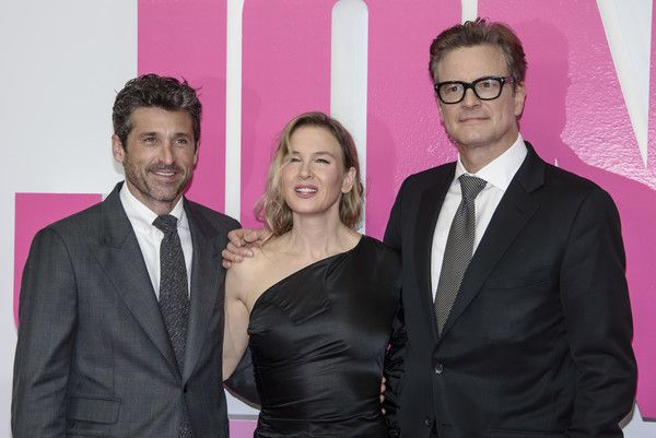 Patrick Dempsey, Renee Zellweger and Colin Firth attend the 'Bridget Jones Baby' German Premiere in Berlin at Zoo Palast on September 7, 2016 in Berlin, Germany.