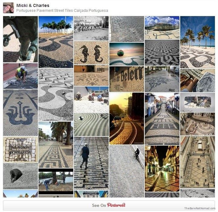 The Barefoot Nomad Pinterest Board Portuguese Pavement