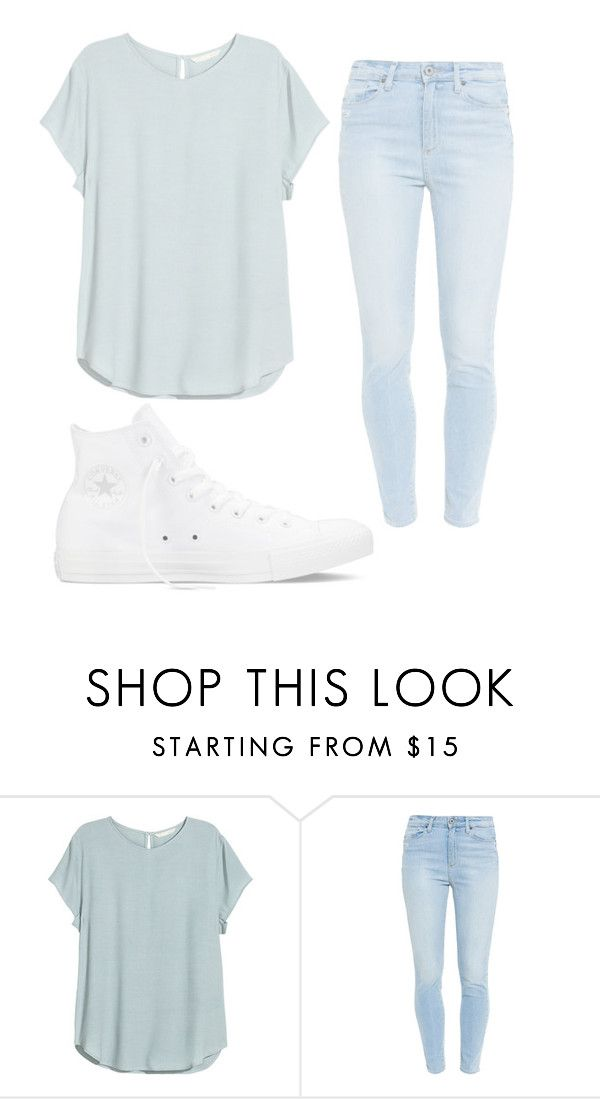 """""""Hi"""" by aissa1026 ❤ liked on Polyvore featuring Paige Denim, Converse, women's clothing, women's fashion, women, female, woman, misses and juniors"""