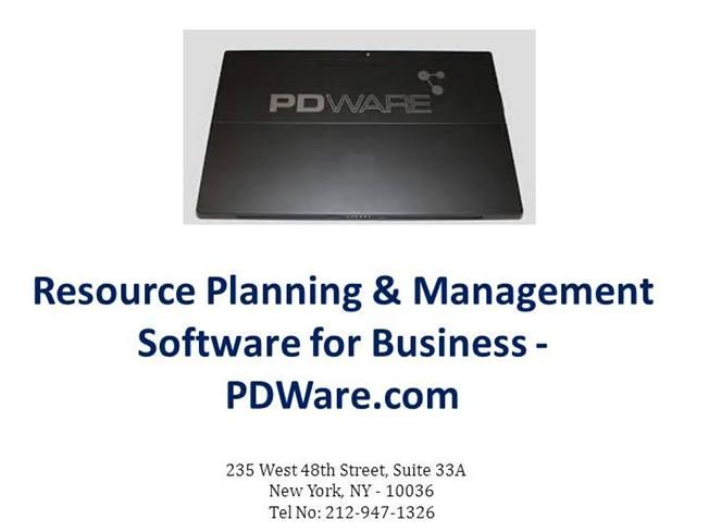 PDWare.com is a market leader in providing resource planning and portfolio software for businesses and organizations, founded in the year 2001. With the assistance of #PDware's resource planning software boosts operational results and efficiency. For more information about our resource management software see our presentation.