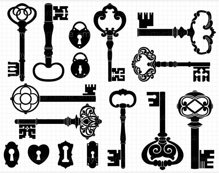 skeleton keys vector - Google Search