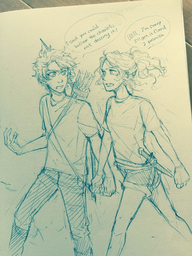 I'm reading the Lost Hero chapter 3 for my refreshment. Will and Annabeth.