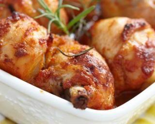 Pilons de poulet au four au miel et à la moutarde pour diabétiques