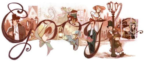 Just an old google doodle  celebrating Dickens birthday