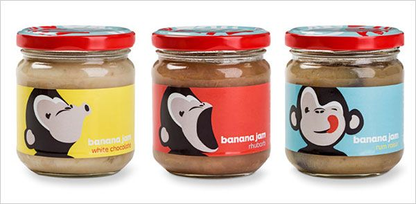 Banana jam jar #labels. | 25 Sweet Jam Jar Labels & Packaging Design Ideas