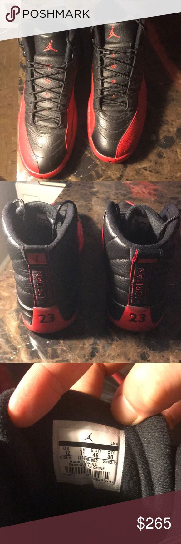 Authentic Air Jordan 12 retro-pre owned Won in a raffle through champs sports Comes with og box/tissue paper Excellent condition Only worn 4 times Air Jordan Shoes Athletic Shoes
