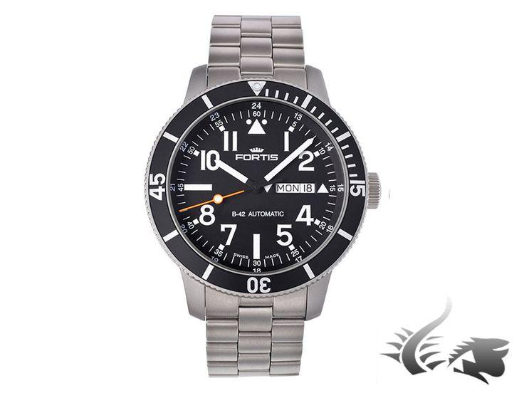 Fortis Diver Titanium Automatic Watch, ETA 2836-2, Black, Titanium, 64 | Iguana Sell