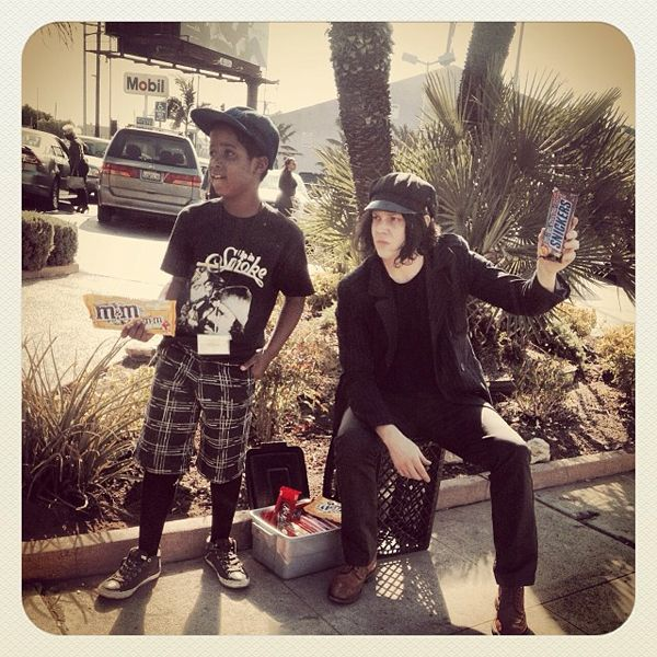 Jack White reveals why he was selling candy on a street in LA during Grammy week 2014.