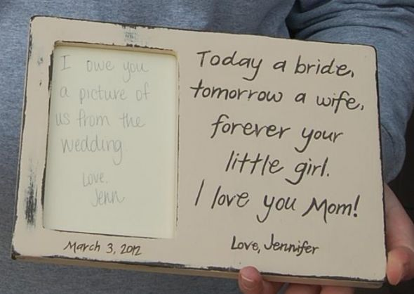 handpainted parents gifts :  wedding diy Momframe