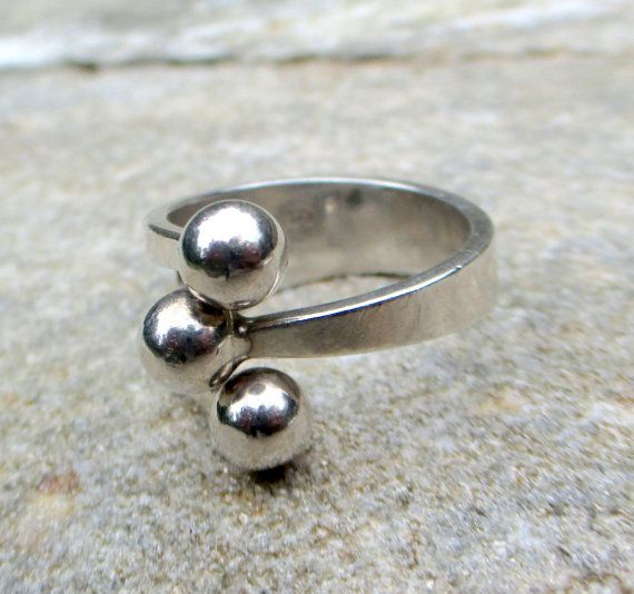 Anna Greta Eker STERLING MODERNIST RING Norway by DaffodilsVintage
